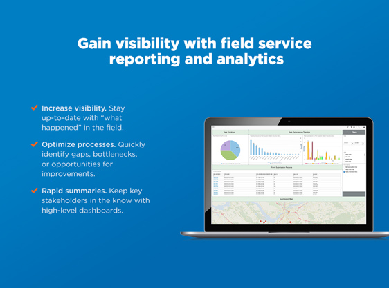 Field service reporting and analytics