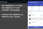 Captura de pantalla de InTouch Tool: LinkedIn lead generation dashboard - analyze the performance of your LinkedIn prospecting campaigns and adjust them to improve your sales funnel.