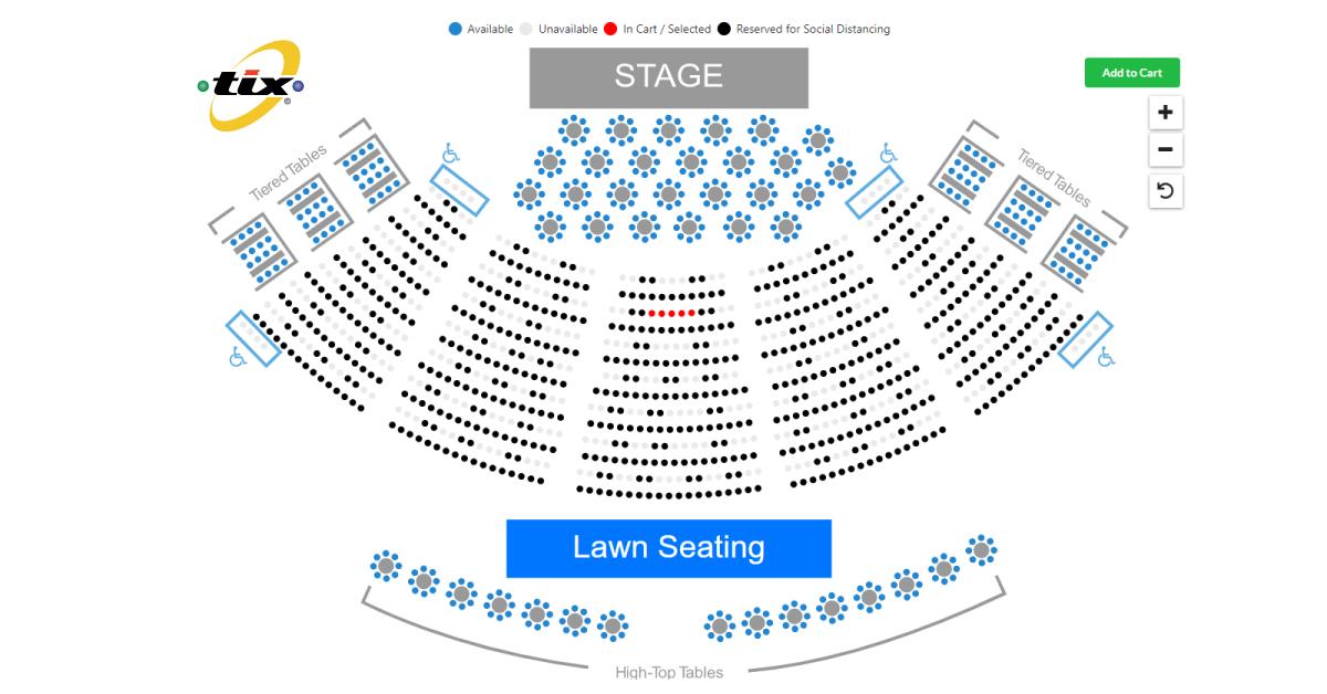 Tix online ticket sales seat selection