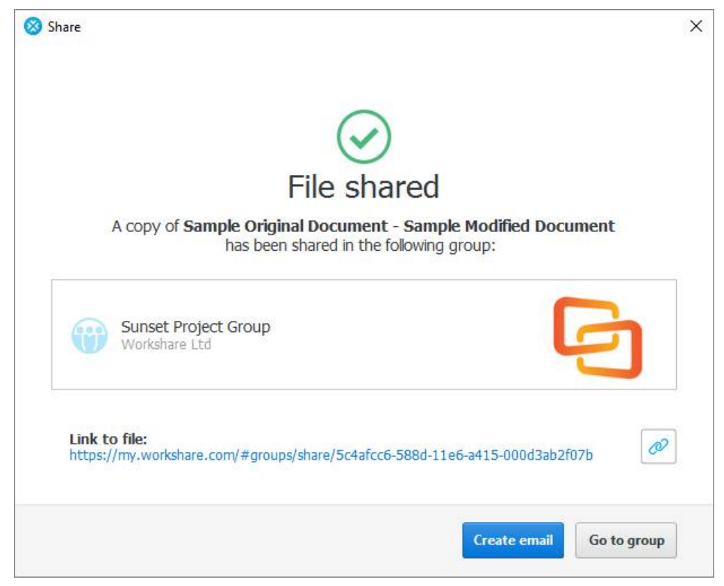 Share files securely