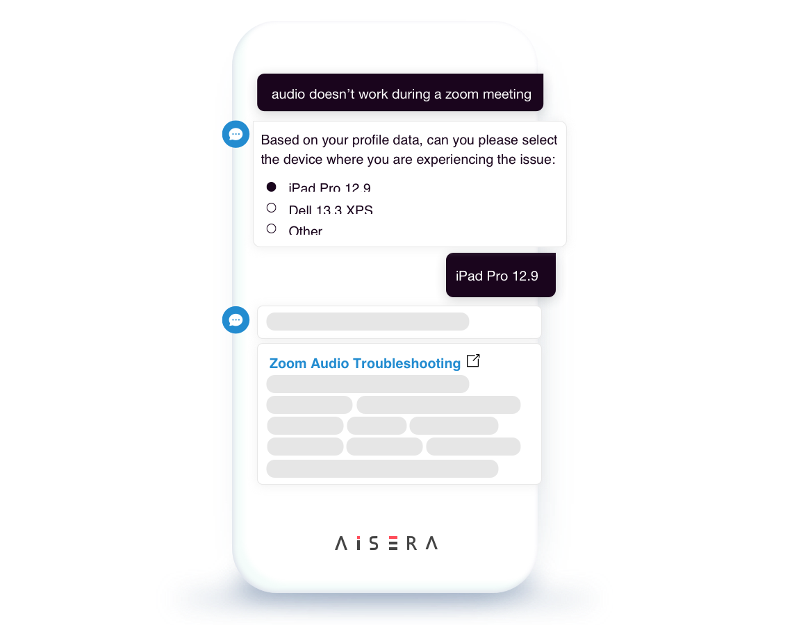 Conversational AI user-based recommendations