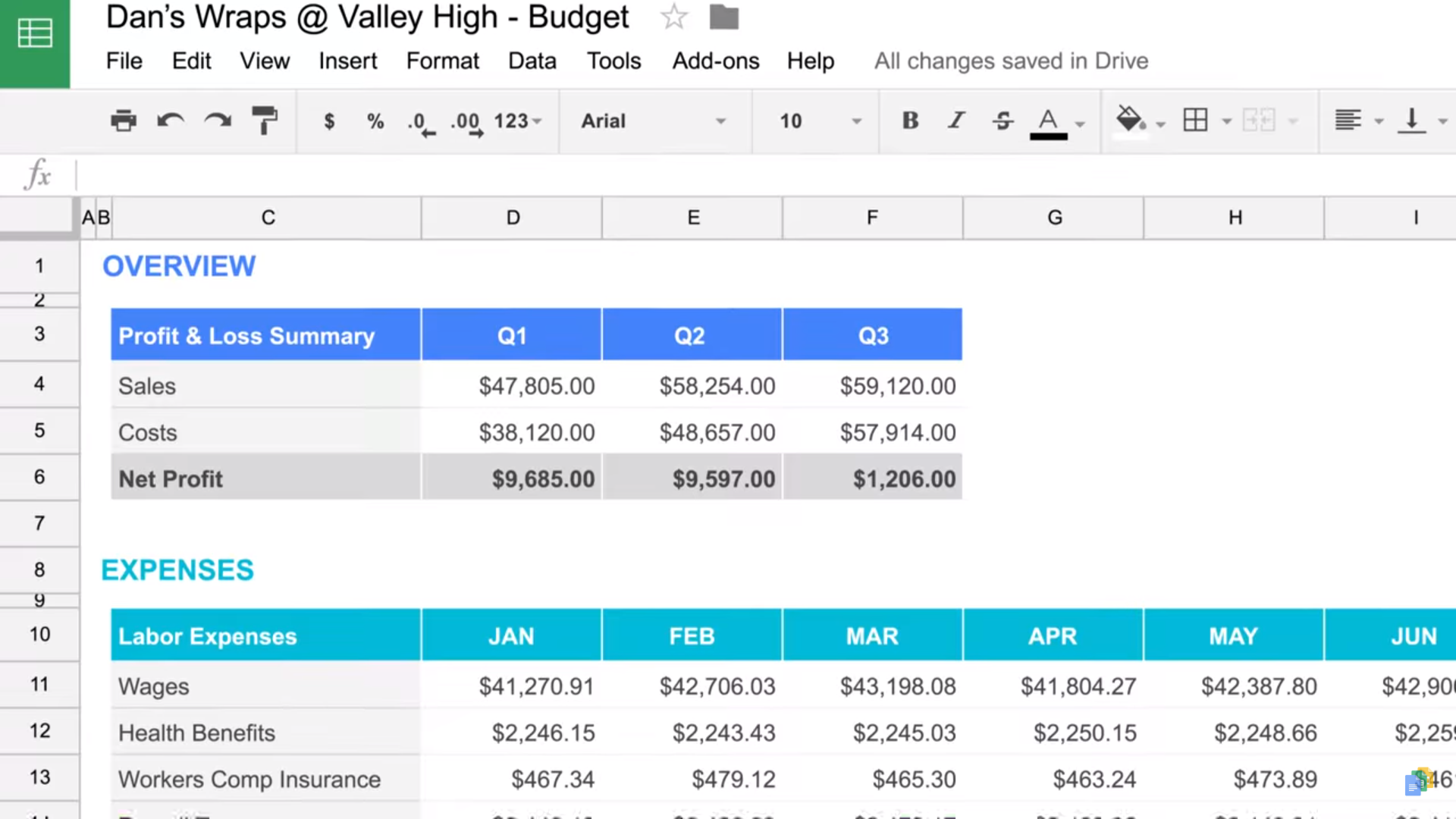 Google Sheets Software - 3