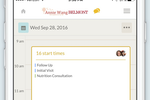 Visibook Screenshot: Add notes to schedules and sync with Google Calender