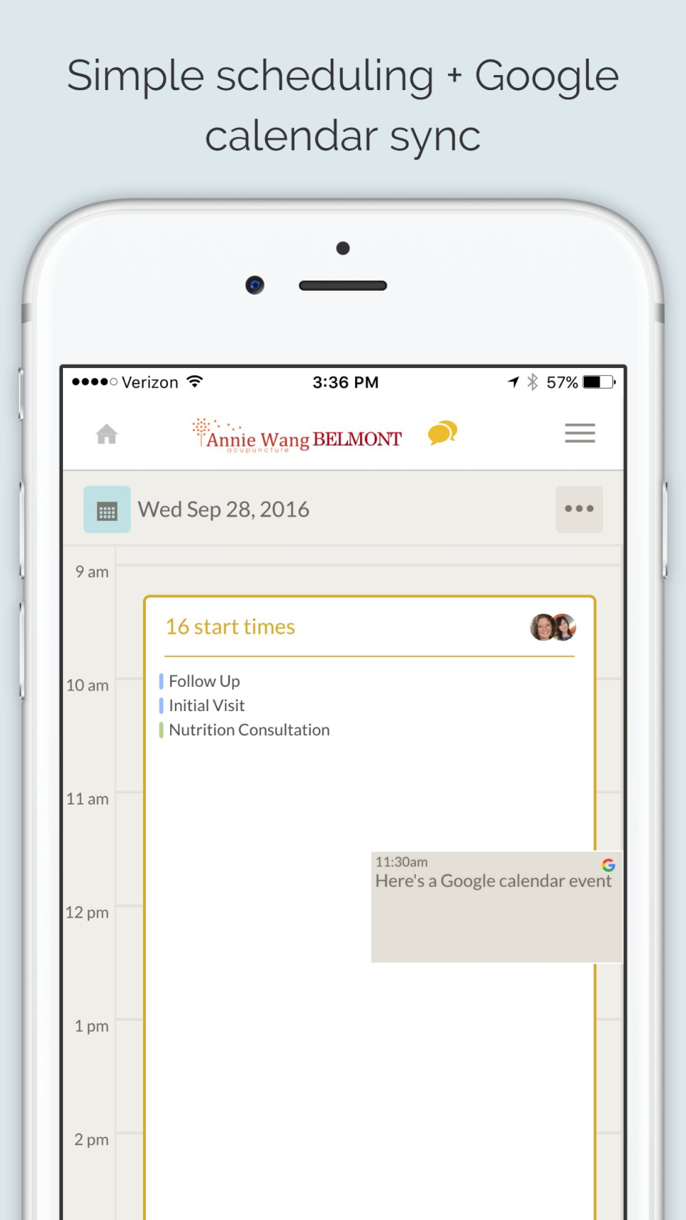 Add notes to schedules and sync with Google Calender