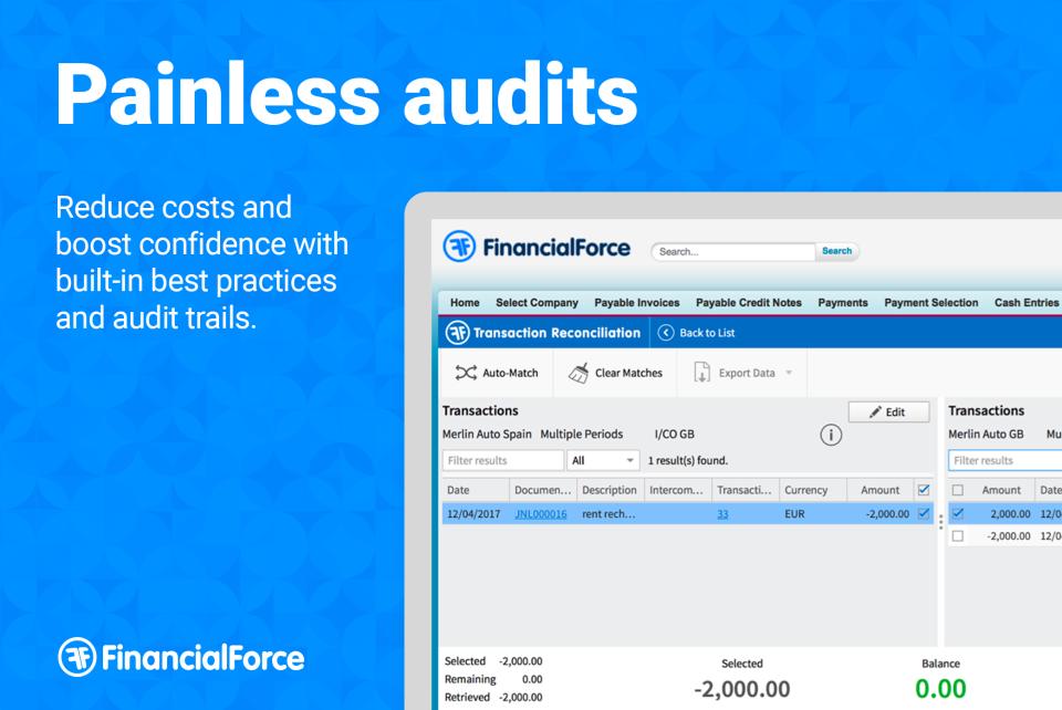 Audit-friendly