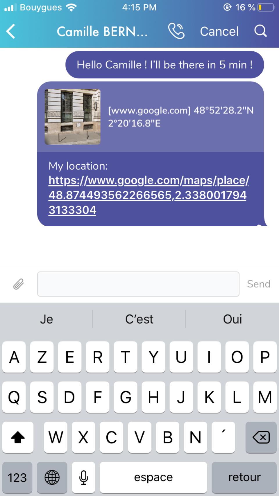 Citadel Team share location