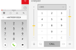 Zadarma screenshot: The Zadarma dialpad running on Windows, showing the numerical keypad for entering phone numbers and placing calls