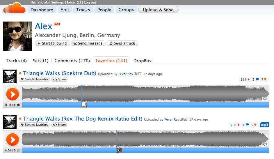 SoundCloud tracks