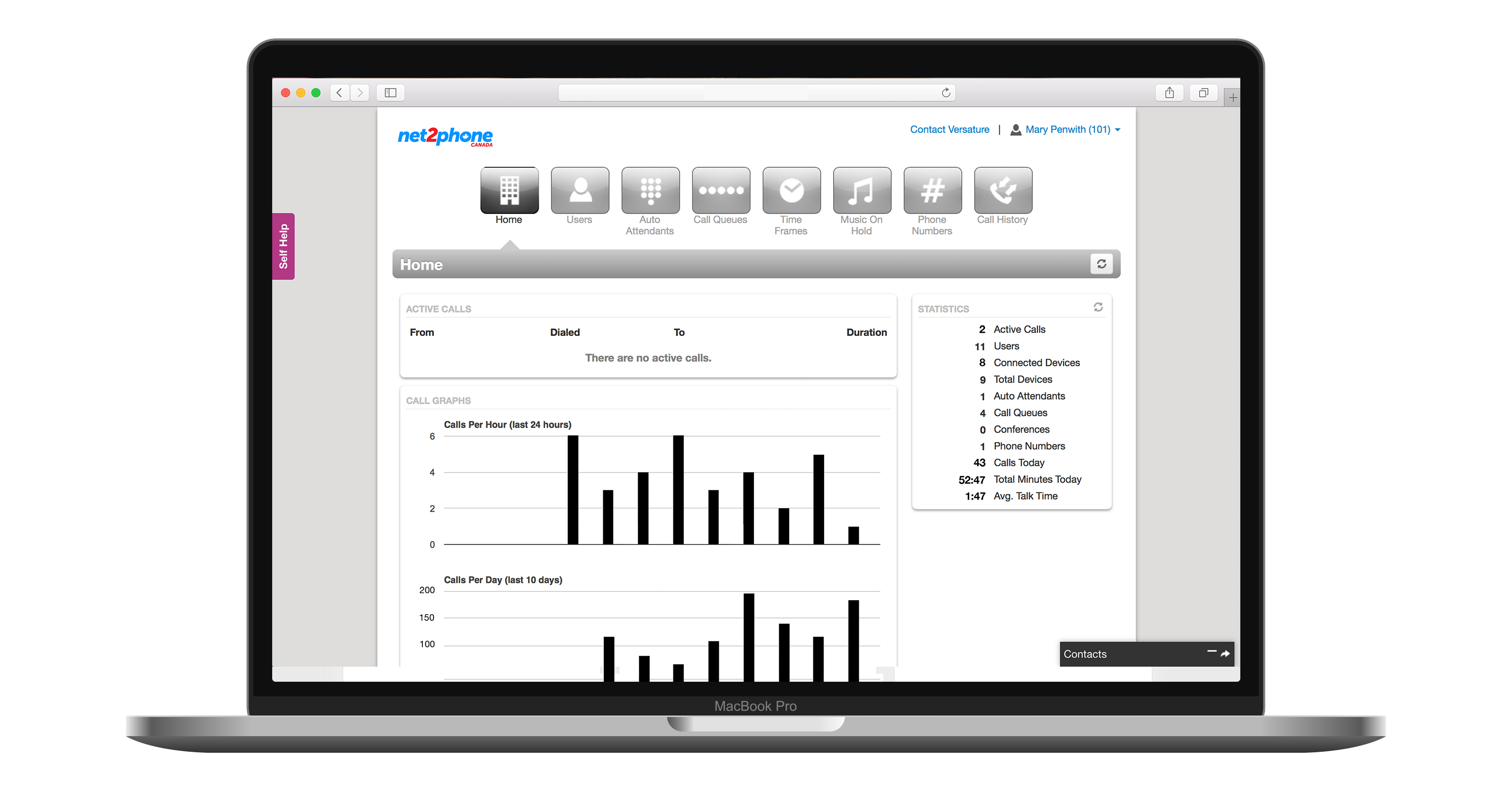 SONAR is net2phone Canada's customer self-service portal. Here, users can manage a variety of call and system preferences as well as review messages, call history, contacts, and more.