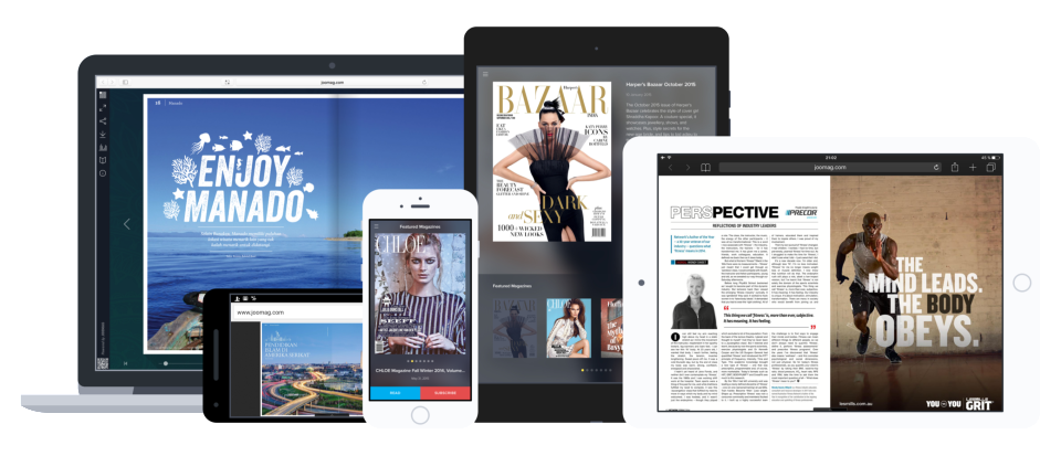 Every publication created with Joomag is optimized for all major mobile and web platforms including Android, iOS, and Windows.