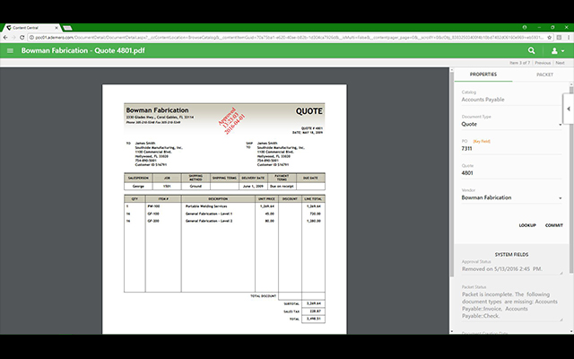 Content Central makes it easy to review documents with an unmatched use of viewing real estate inside the software. You don't have to compromise document preview size in order to see important metadata or index information all on the same screen.