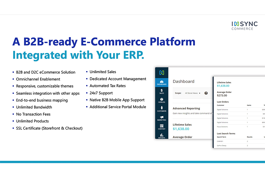 B2B-ready eCommerce Platform Integrated with your line-of Business Applications
