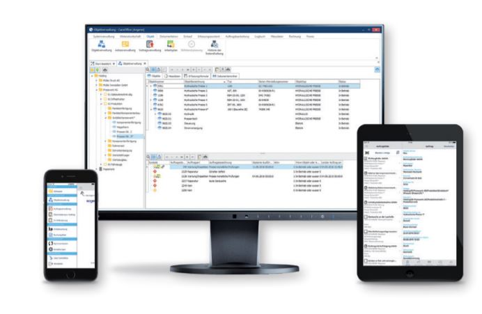 CareOffice Windows, Web and the native App for IOS (Android is also available)