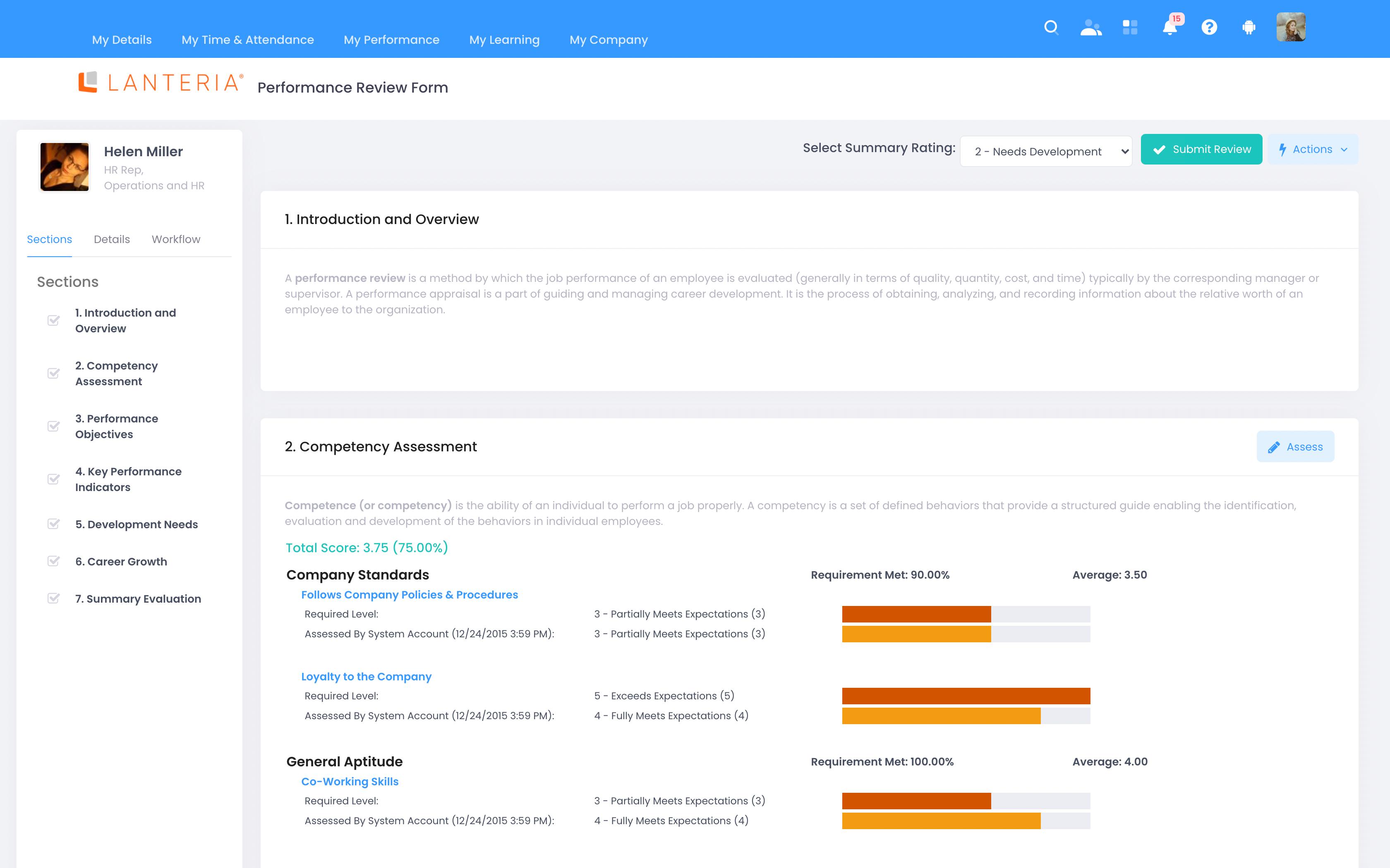 Lanteria HR Software - 4