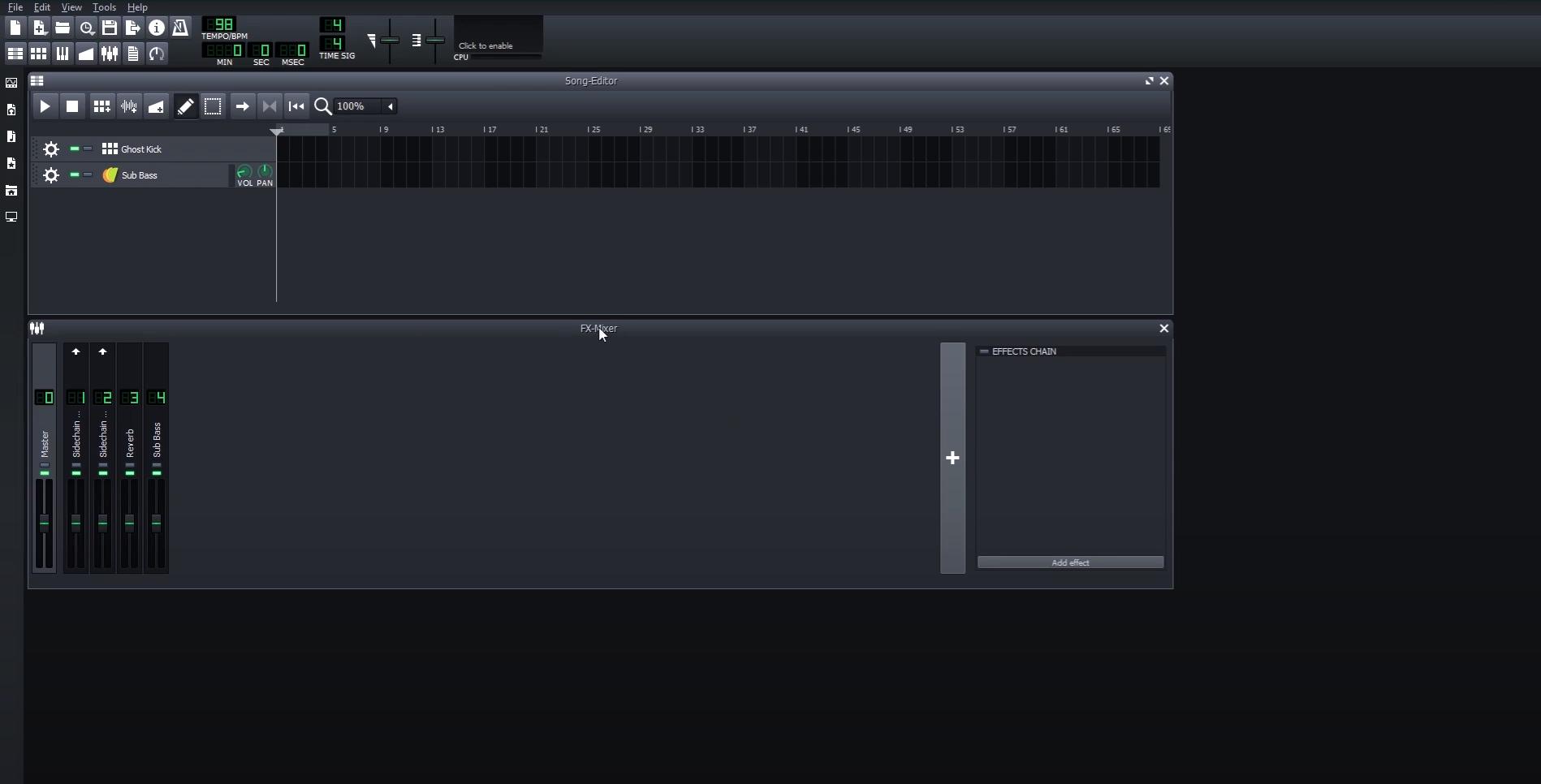 LMMS main interface