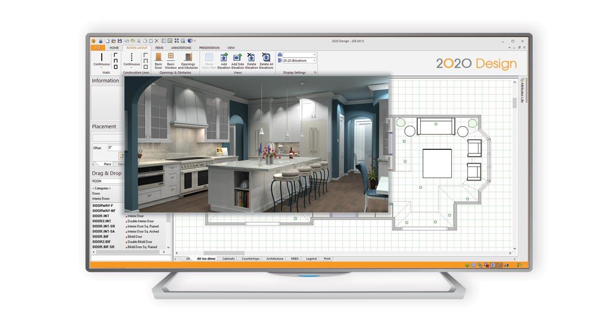2020 Design Live room layout