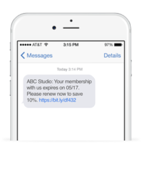 Automated reminders alert members when their membership is about to expire