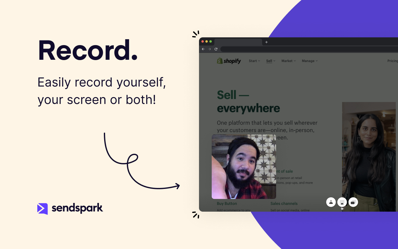 Easily Record Yourself, Your Screen, or Both