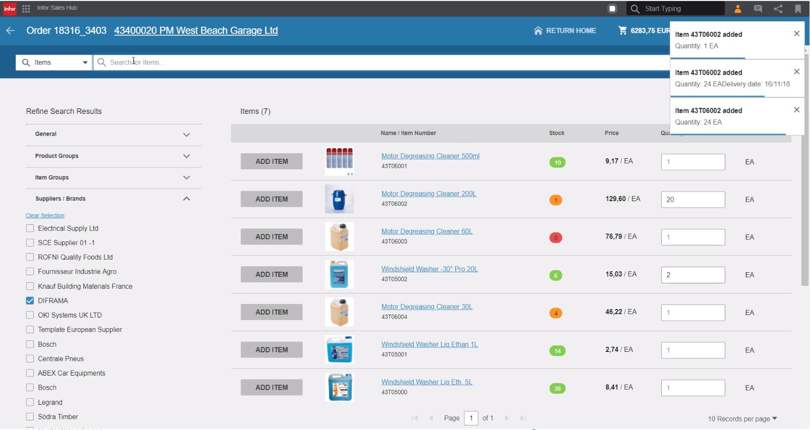 Infor M3 Distribution Enterprise – sales hub
