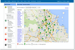 TurnPoint Care screenshot: Plan routes with staffing map & journey planner