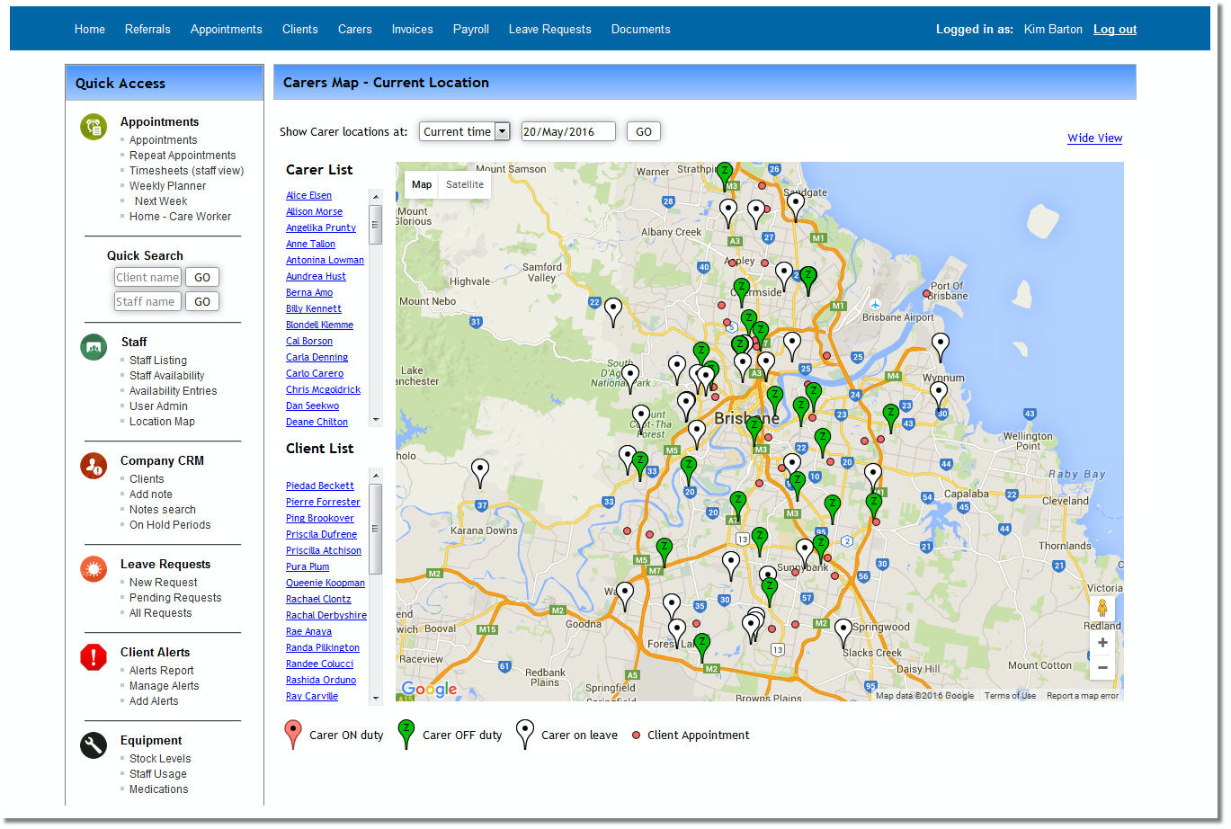 Plan routes with staffing map & journey planner