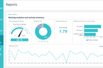 Captura de pantalla de Sapience Vue: Sapience Vue meeting analytics