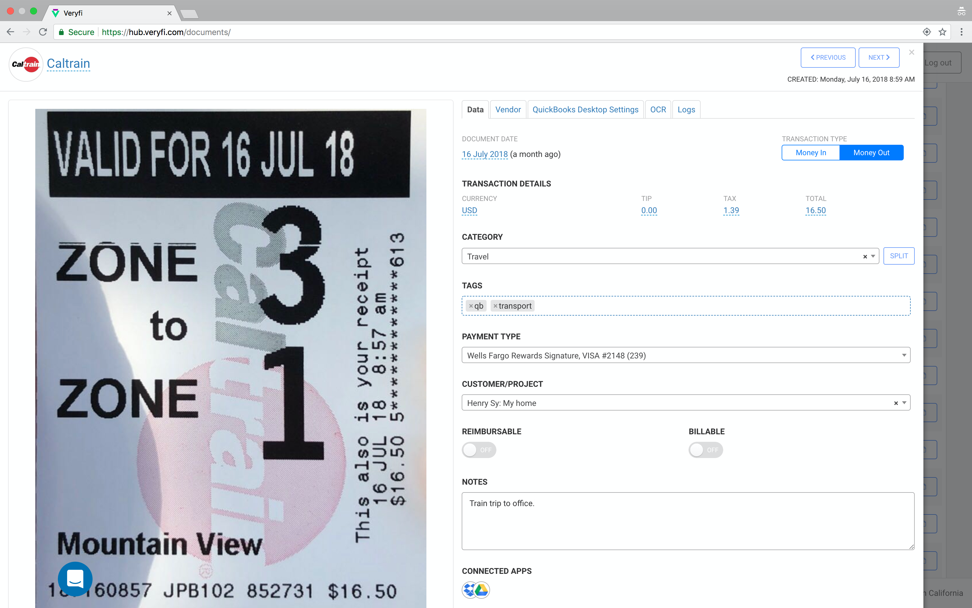 Veryfi Receipts OCR & Expenses Software - 7