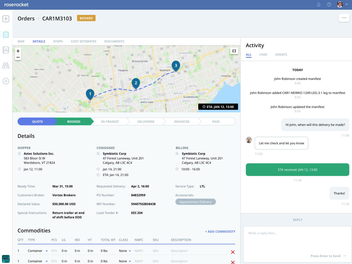 Private Customer Portals providing visibility