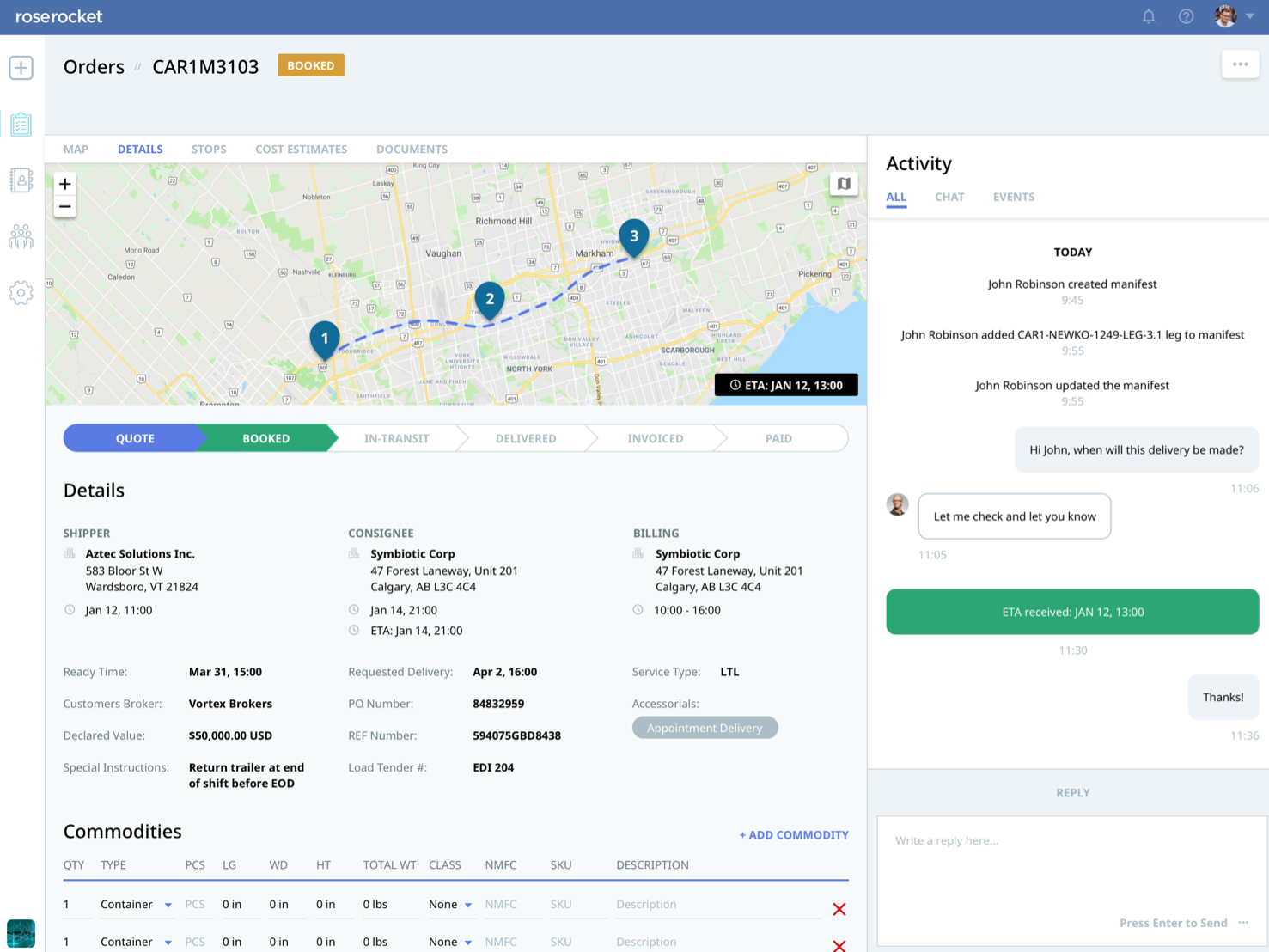 Rose Rocket Software - Private Customer Portals providing visibility