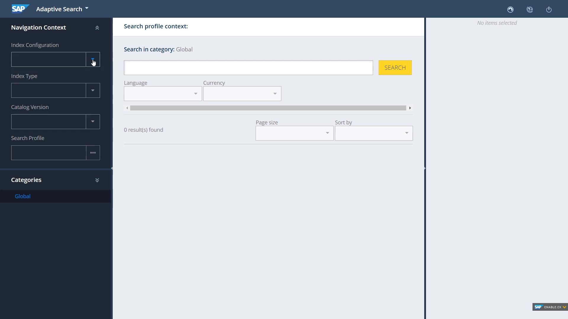 SAP Commerce Cloud profile context