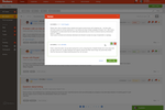 Deskero screenshot: Add notes to your tickets to share internal information with other agents