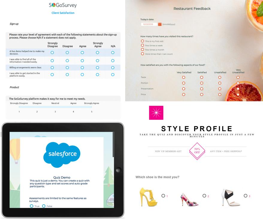 SoGoSurvey Software - SoGoSurvey Sample Surveys