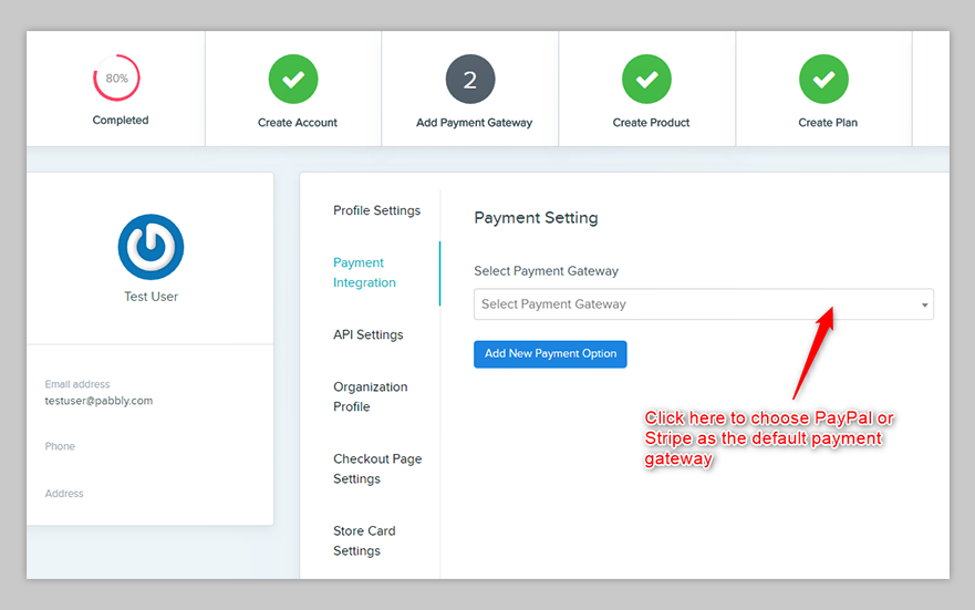 Pabbly Subscriptions configure payment gateway