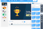 Capture d'écran pour PowToon : Presentation can be created with the drag and drop WYSIWYG editor