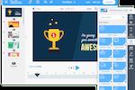 Captura de tela do PowToon: Presentation can be created with the drag and drop WYSIWYG editor
