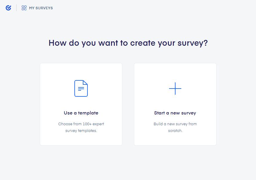 Survio survey creation