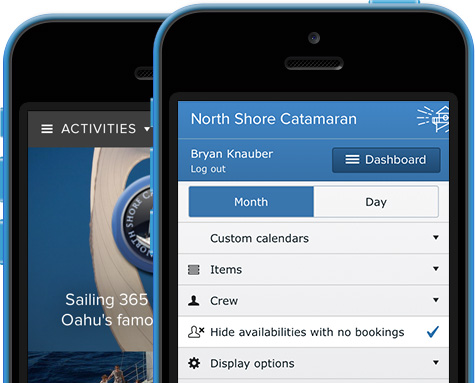 FareHarbor screenshot: features-mobile