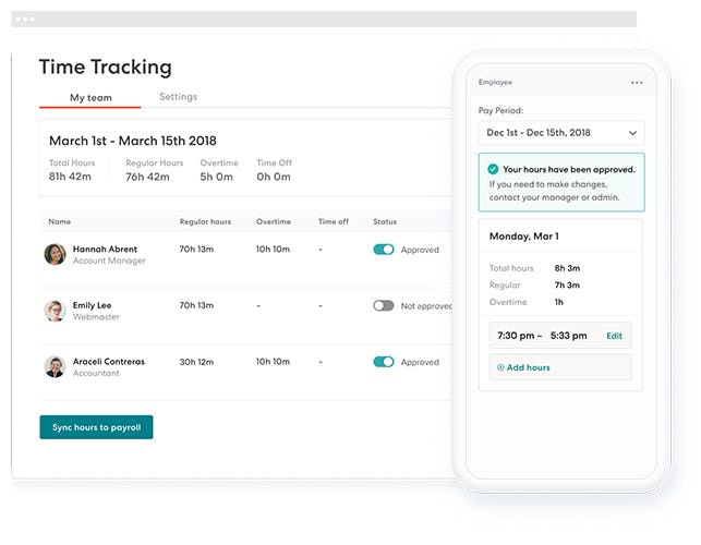 Gusto Software - Gusto time tracking