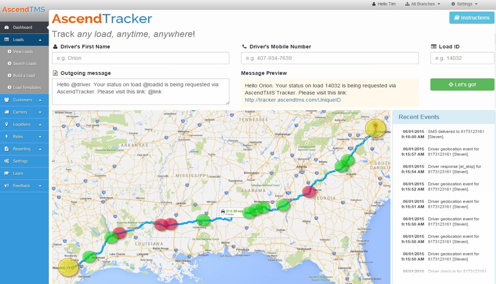 AscendTMS Logistics Software Software - GPS tracking