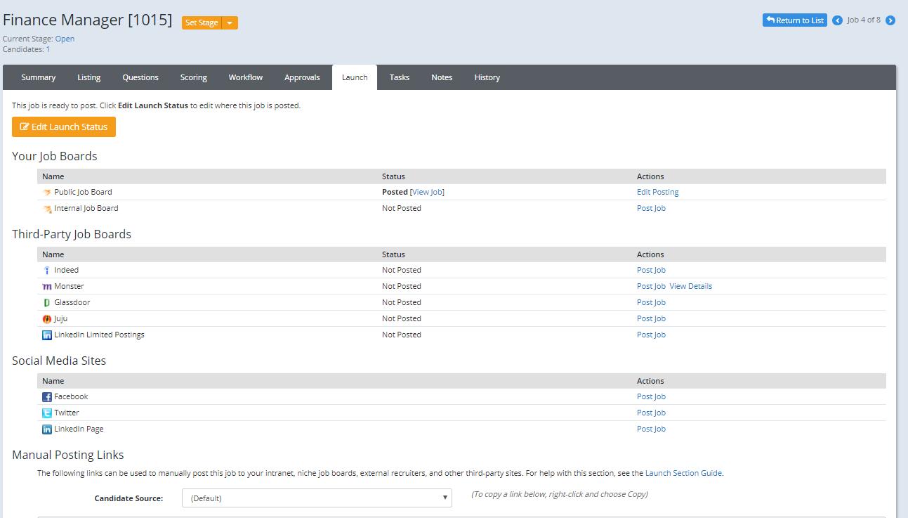 ApplicantStack Software - ApplicantStack Recruit Jobs Launch Tab
