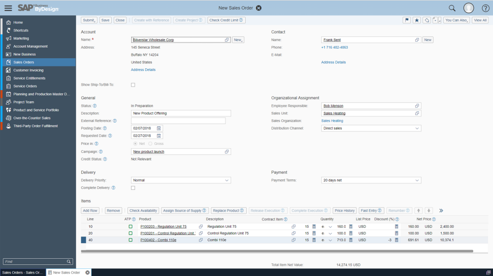 SAP ERP Software - SAP Cloud ERP Suite: SAP Business ByDesign