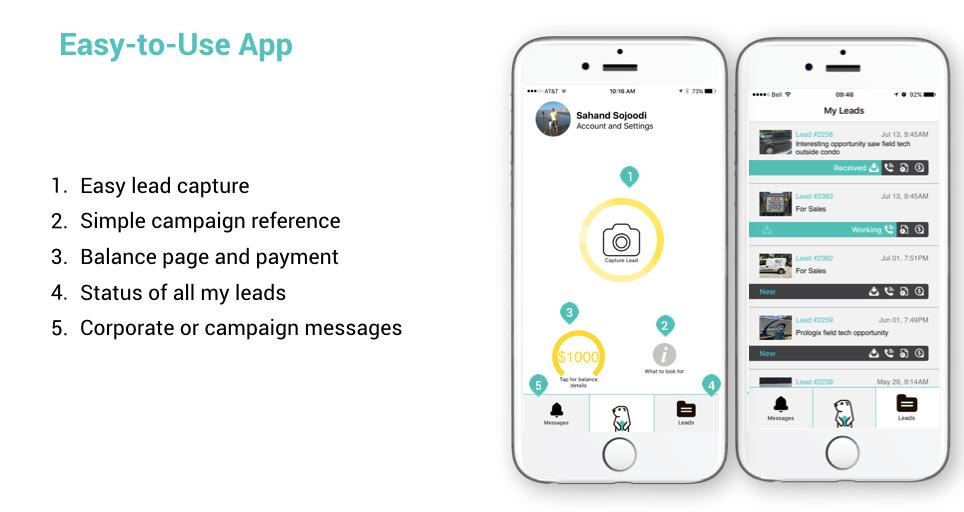 Simple app homescreen
