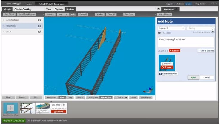 Tekla Structures Software - Add notes