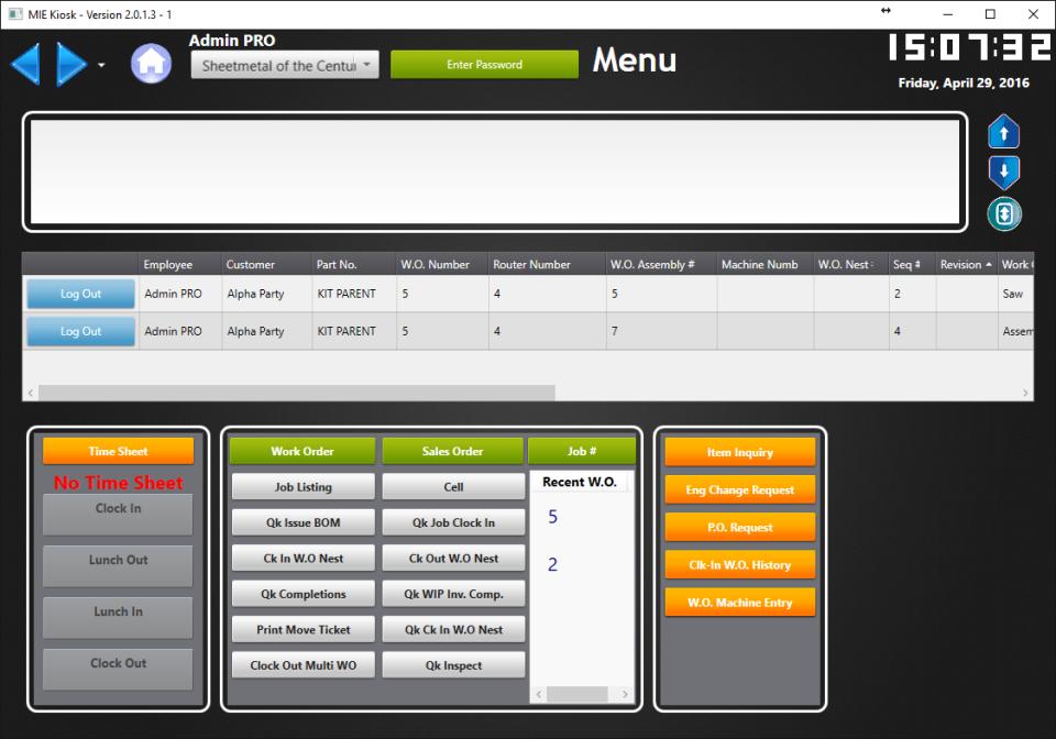 MIE Trak Pro Software - 2