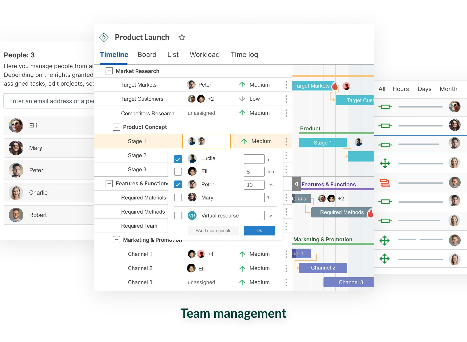 GanttPRO Software - Team management