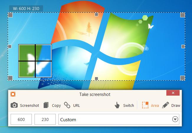 Icecream Screen Recorder take screenshot