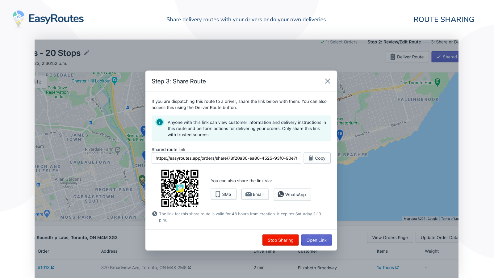 delivery routes app