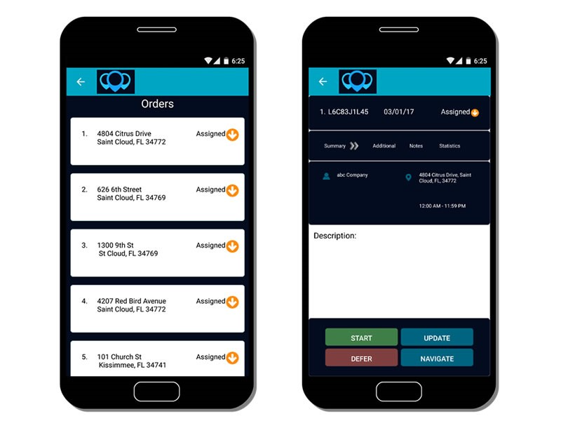 Dispatch directly to the drivers' smartphones