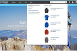 Salesforce B2C Commerce screenshot: Salesforce B2C Commerce AI-enabled search suggestions