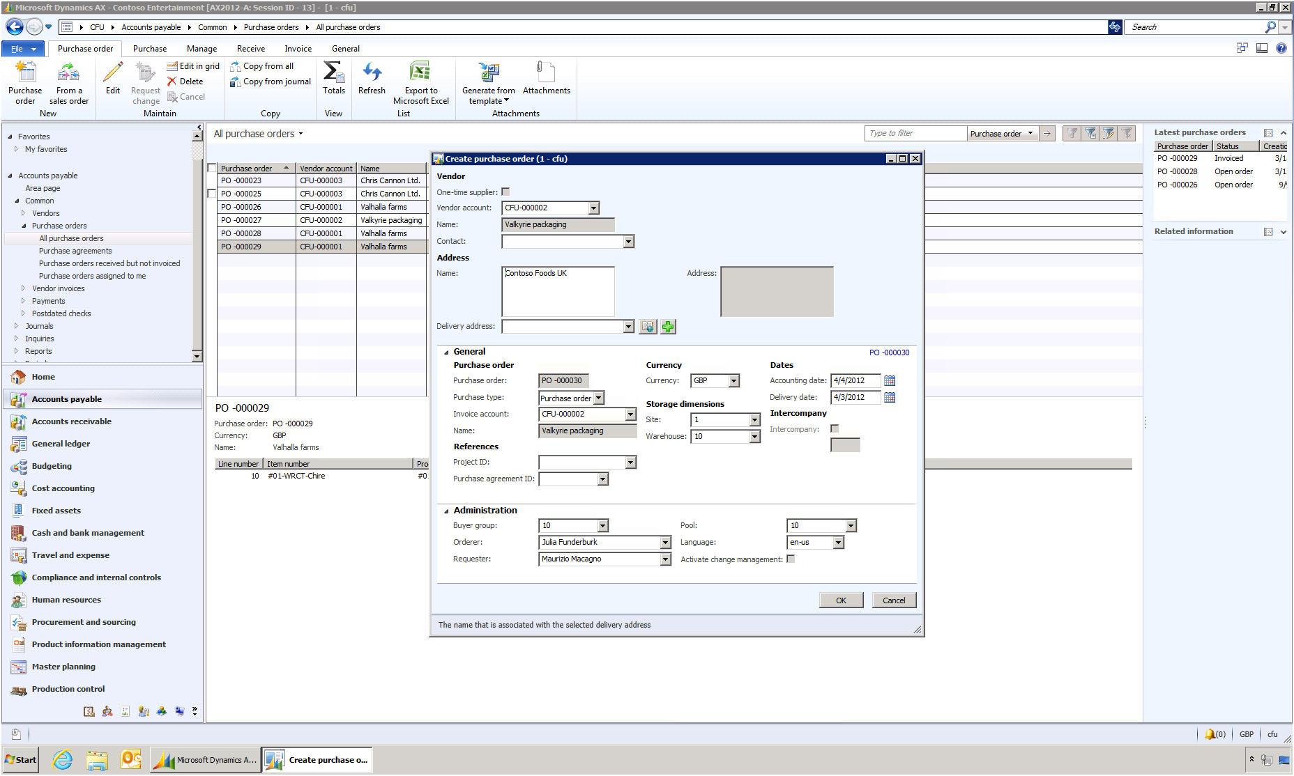 MAXLife ERP Software - Create PO